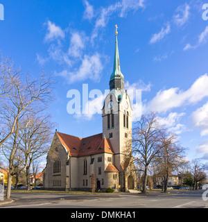Church, Christuskirche Church, Klotzsche, Dresden, Germany. - Stock Photo