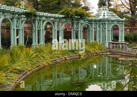 Old Westbury gardens house on Long Island NY - Stock Photo