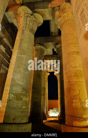 Double Temple of Sobek and Horus at Kom Ombo, Upper Egypt - Stock Photo