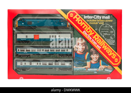 Vintage 1976 Hornby Railways R179 Inter-City Mail electric model railway train set - Stock Photo