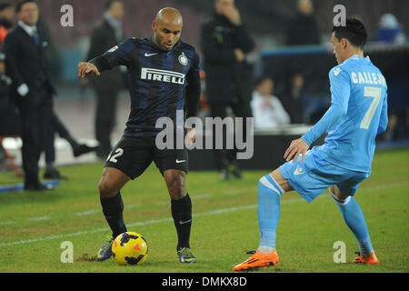 Naples, Italy. 15th Dec, 2013. Jonathan FC Internazionale Milano during the Serie A match between SSC Napoli and - Stock Photo