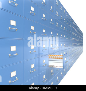 Massive wall of File Cabinets. Medium DOF. - Stock Photo