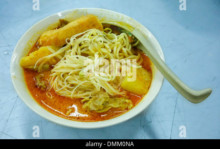 Asian Spicy Curry Laksa Soup - Stock Photo