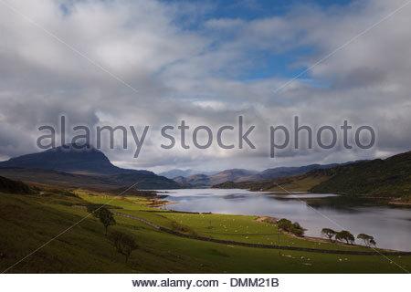 Loch Hope, Sutherland, Scotland - Stock Photo