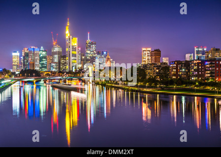 Frankfurt, Germany on the Main River. - Stock Photo