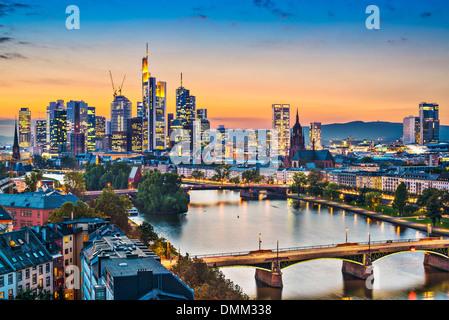 Frankfurt, Germany on the Main River. - Stock Photo
