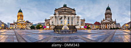 Berlin, Germany at historic Gendarmenmarkt square. - Stock Photo