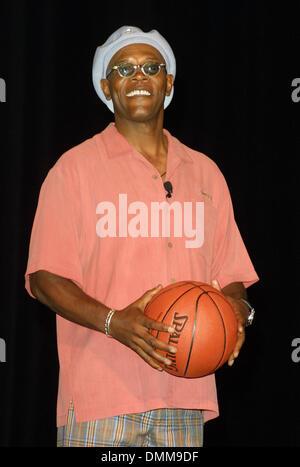 Apr. 9, 2002 - Hollywood, CALIFORNIA, USA - SAMUEL L JACKSON..PRESS CONFERENCE TO ANNOUNCE ESPN'S 10TH ANNUAL ESPY - Stock Photo
