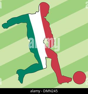 Soccer series icon in national colours - Stock Photo