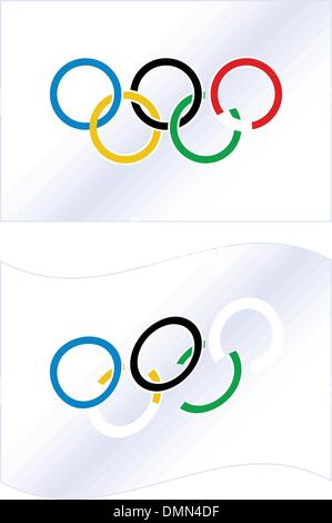 vector Olympic flag - Stock Photo