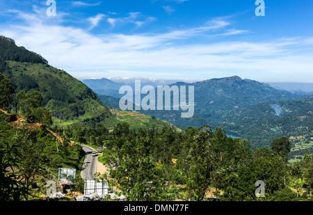 Sri Lanka, landscape of the Ramboda valley - Stock Photo