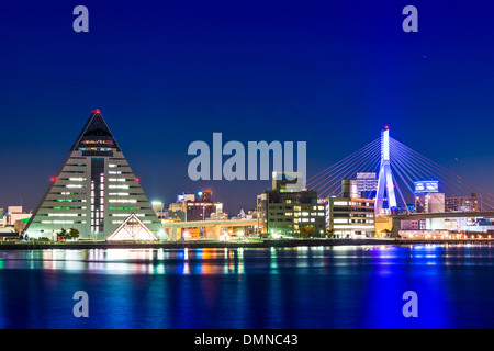 Downtown Aomori, Japan. - Stock Photo