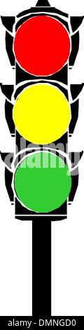 Semaphore or traffic lights - Stock Photo