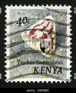 Kenya, Postage stamp, Post, post mark, stamp, post stamp,sink - Stock Photo