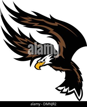 Flying Eagle Wings Mascot Design - Stock Photo