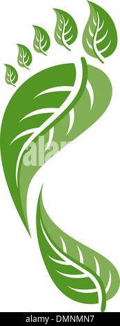 Eco Friendly Footprint Illustration - Stock Photo