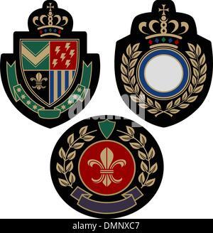 royal classical emblem shield - Stock Photo