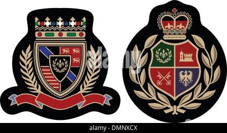 royal college emblem shield - Stock Photo