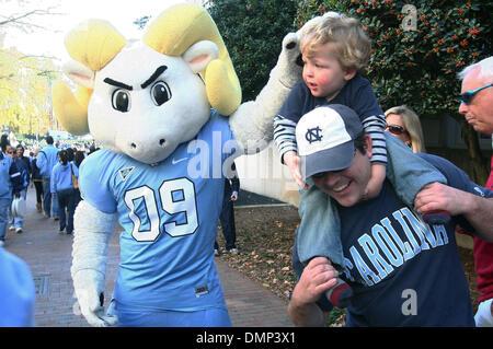 Nov. 07, 2009 - Chapel Hill, North Carolina, U.S - November 7, 2009: UNC's mascot greets fans at the pregame ''Well - Stock Photo