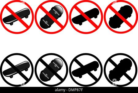 Skateboard signs - Stock Photo