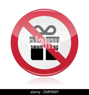 No presents red warning signs - vector - Stock Photo