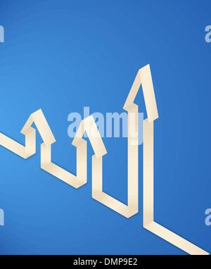 three 3d paper arrows - Stock Photo