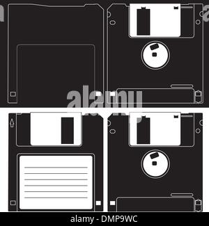 Diskette of 3.5 inches. - Stock Photo