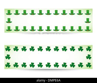 St. patrick's day banners - Stock Photo