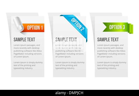 Set of Vector Colorful Sample Option Stickers - Stock Photo
