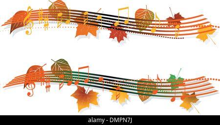 musical banner - Stock Photo