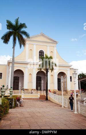 The Church of the Holy Trinity, Plaza Mayor, Trinidad town centre, UNESCO world heritage site, Cuba, Caribbean Latin - Stock Photo