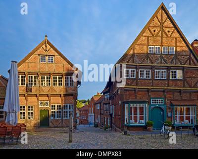 Eulenspiegel museum at marketplace in Mölln, Herzogtum Lauenburg, Schleswig-Holstein, Germany - Stock Photo