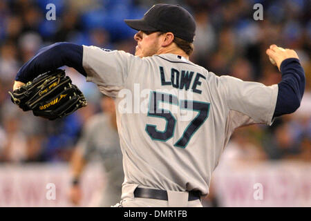Sep. 27, 2009 - Toronto, Ontario, Canada - 26 September 2009: Seattle Mariners relief pitcher Mark Lowe (57) during the Blue Jays 5-4 victory over the Mariners at the Rogers Centre in Toronto, ON (Credit Image: © Adrian Gauthier/Southcreek Global/ZUMApress.com)