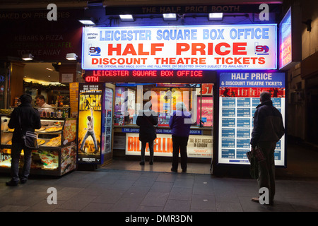 Leicester Square Box Office, Half Price Discount Theatre Tickets, London, England, United Kingdom - Stock Photo
