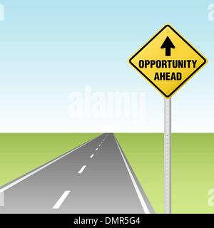 OPPORTUNITY AHEAD Traffic Sign on Highway - Stock Photo
