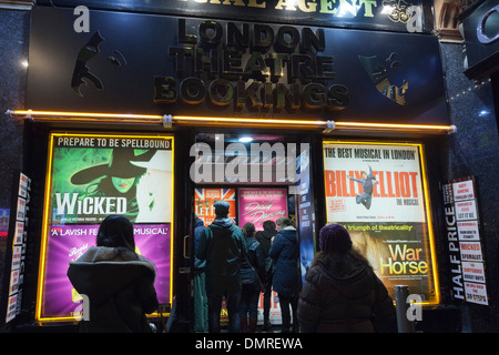 London Theatre Bookings, half-price theatre tickets, Leicester Square, London, England, United Kingdom - Stock Photo