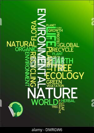 Ecology - environmental poster - Stock Photo