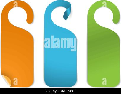 Set of various empty paper tags - Stock Photo
