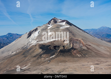 volcano Andes mountains Chile desolate colorful barren vents lava flow montanas Cero Azul Descabazado Volcano - Stock Photo