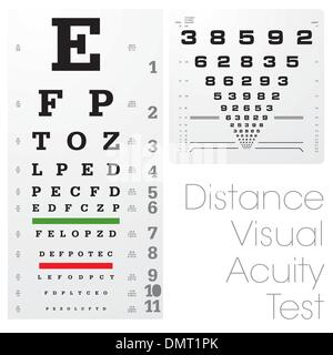 Distance Visual Acuity Test - Stock Photo
