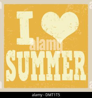 I love summer poster - Stock Photo
