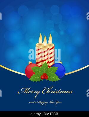 Christmas greetings background - Stock Photo