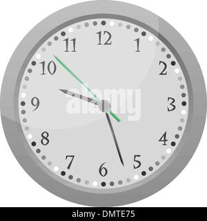 wall clock vector Vintage orange isolated on white - Stock Photo