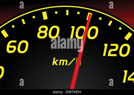 Speedometer. Accelerating Dashboard. Vector illustrator - Stock Photo