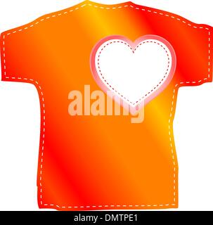T-shirt templates with valentine heart - Stock Photo