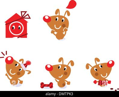 singing dog cartoon illustration stock photo 103042647