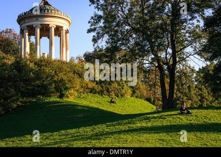 The Monopteros in Englischer Garten of Munich - Stock Photo