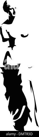vector venus silhouette - Stock Photo