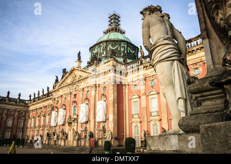 The Neues Palais (new palace) in Postdam, Germany - Stock Photo