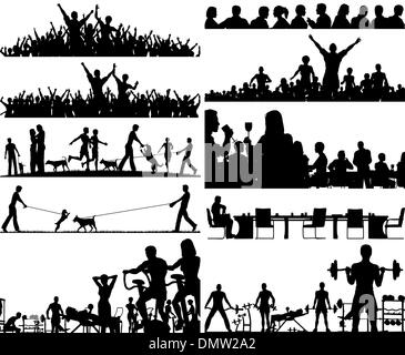 People foregrounds - Stock Photo